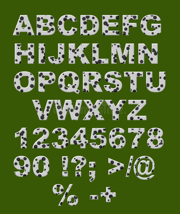 μαύρο λευκό επιστολών κύκλων αλφάβητου ελεύθερη απεικόνιση δικαιώματος