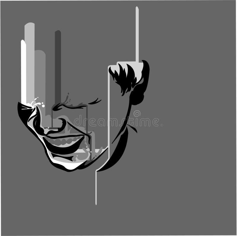 μαύρο λευκό κλάματος μετ στοκ εικόνα