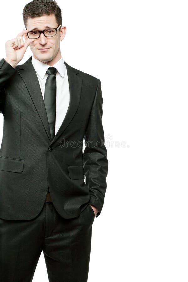 μαύρο λευκό κοστουμιών επιχειρηματιών όμορφο στοκ εικόνα με δικαίωμα ελεύθερης χρήσης
