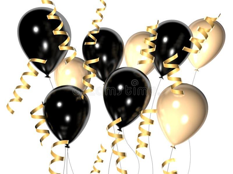 Download μαύρο λευκό μπαλονιών απεικόνιση αποθεμάτων. εικονογραφία από ευτυχής - 1533614