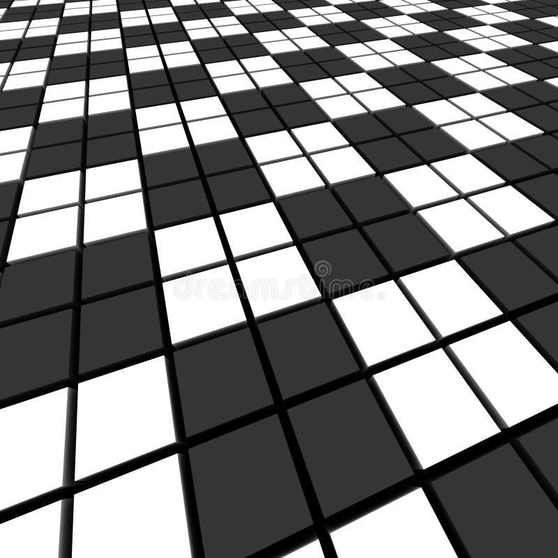 μαύρο λευκό μωσαϊκών απεικόνιση αποθεμάτων