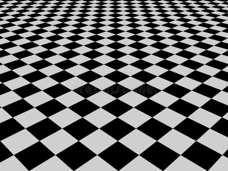 μαύρο λευκό προτύπων ελέγ&ch διανυσματική απεικόνιση
