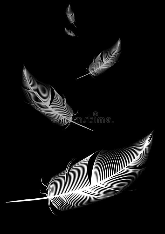 μαύρο λευκό φτερών ανασκόπ& ελεύθερη απεικόνιση δικαιώματος