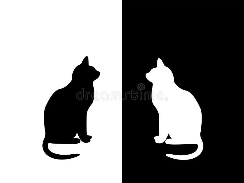 μαύρο λευκό διανυσματική απεικόνιση