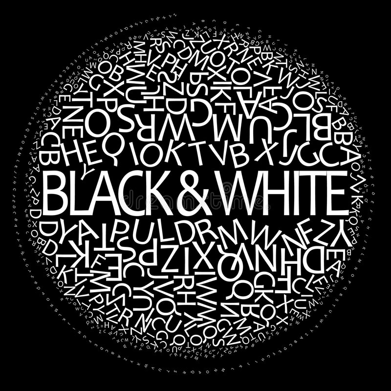μαύρο λευκό ελεύθερη απεικόνιση δικαιώματος