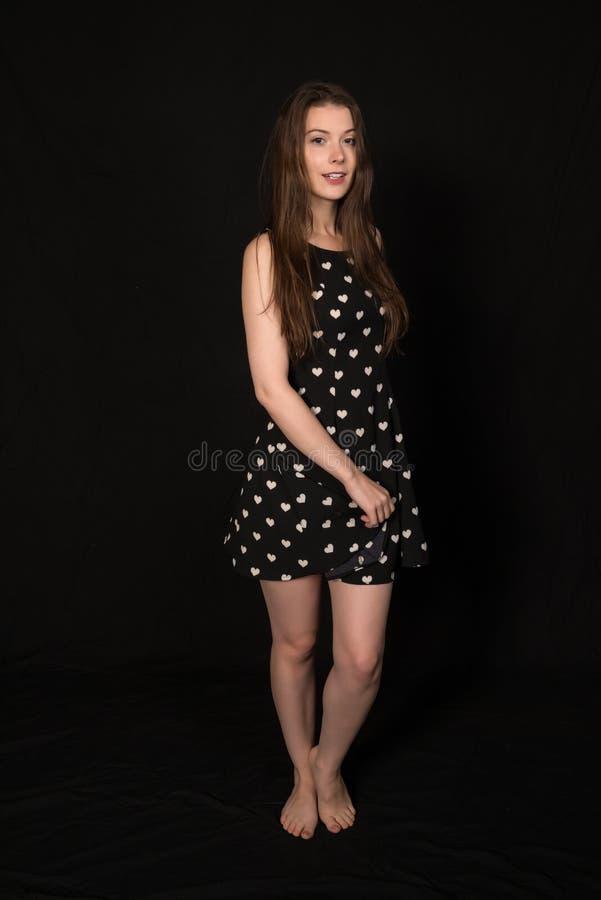 μαύρο λευκό brunette στοκ φωτογραφίες με δικαίωμα ελεύθερης χρήσης