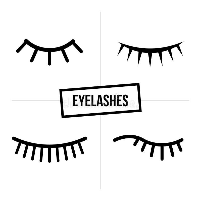 Μαύρο λογότυπο επέκτασης eyelash στο άσπρο υπόβαθρο επίσης corel σύρετε το διάνυσμα απεικόνισης διανυσματική απεικόνιση