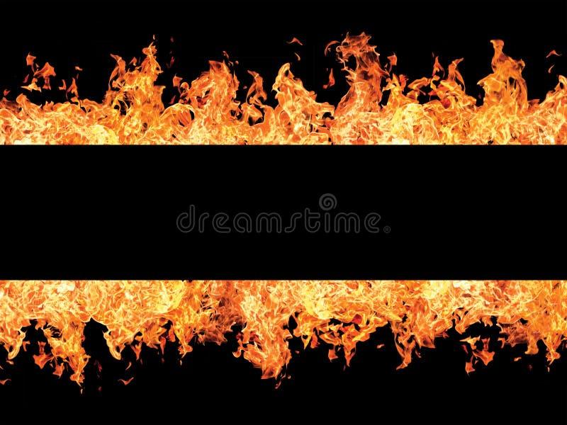 μαύρο λωρίδα φλογών πυρκαγιάς στοκ φωτογραφία με δικαίωμα ελεύθερης χρήσης