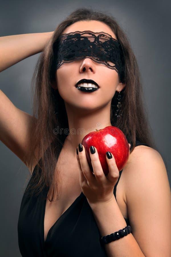 Μαύρο μήλο στοκ εικόνα