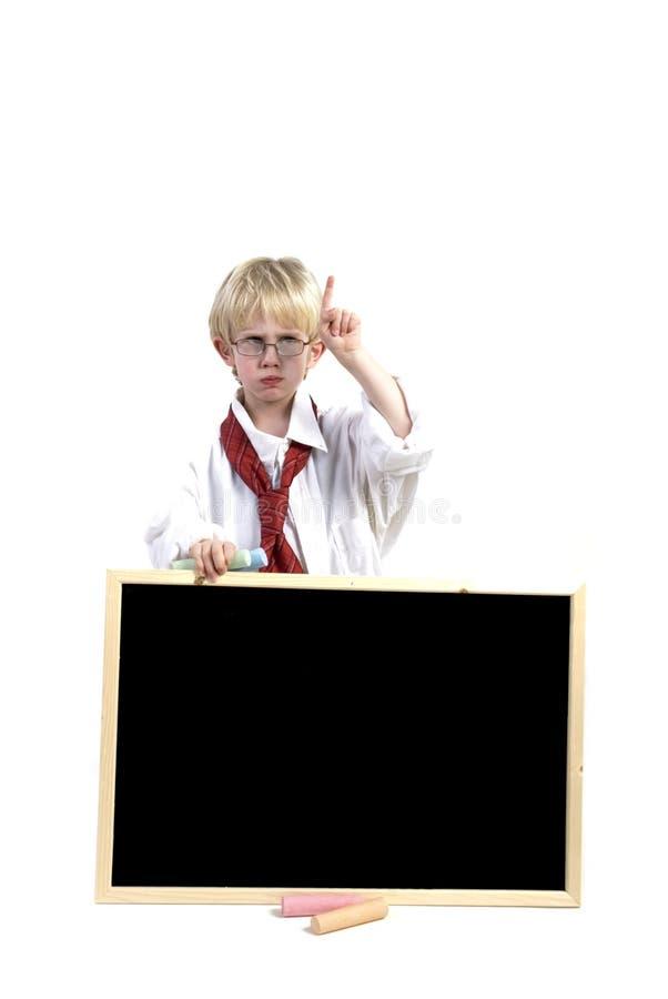 μαύρο μικρό παιδί χαρτονιών στοκ εικόνες