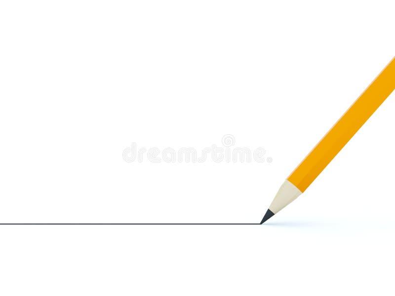 μαύρο μολύβι γραμμών διανυσματική απεικόνιση