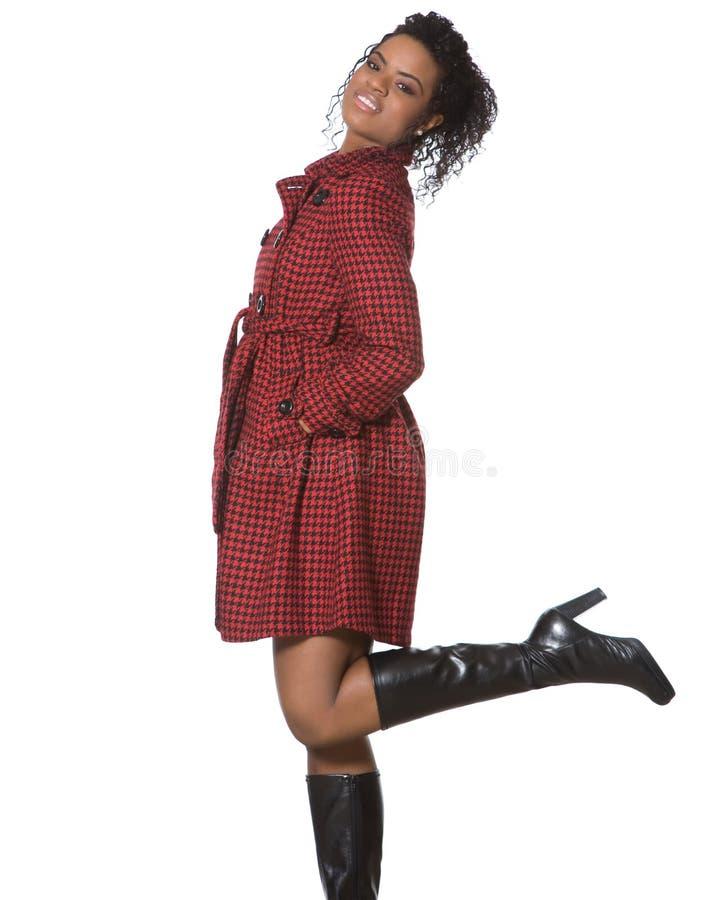 Μαύρο μοντέλο μόδας στοκ φωτογραφία με δικαίωμα ελεύθερης χρήσης