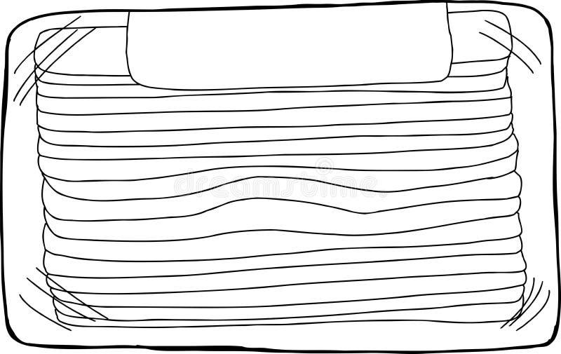 Μαύρο μπέϊκον χοιρινού κρέατος περιλήψεων ελεύθερη απεικόνιση δικαιώματος