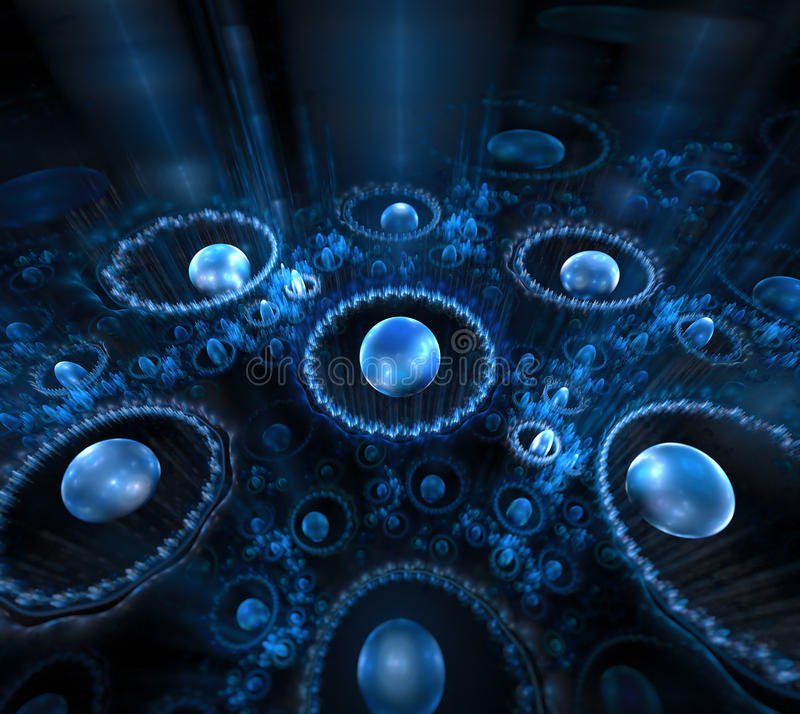 μαύρο μπλε ανασκόπησης Λαμπρά μαργαριτάρια με τα θολωμένα λωρίδες CI διανυσματική απεικόνιση