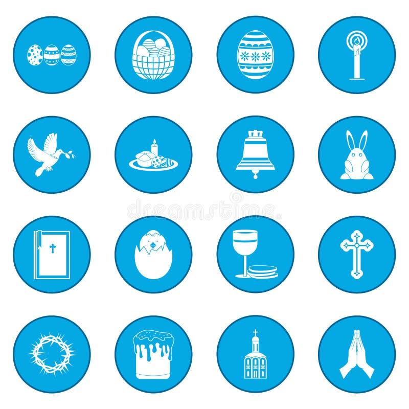 Μαύρο μπλε εικονιδίων Πάσχας απεικόνιση αποθεμάτων