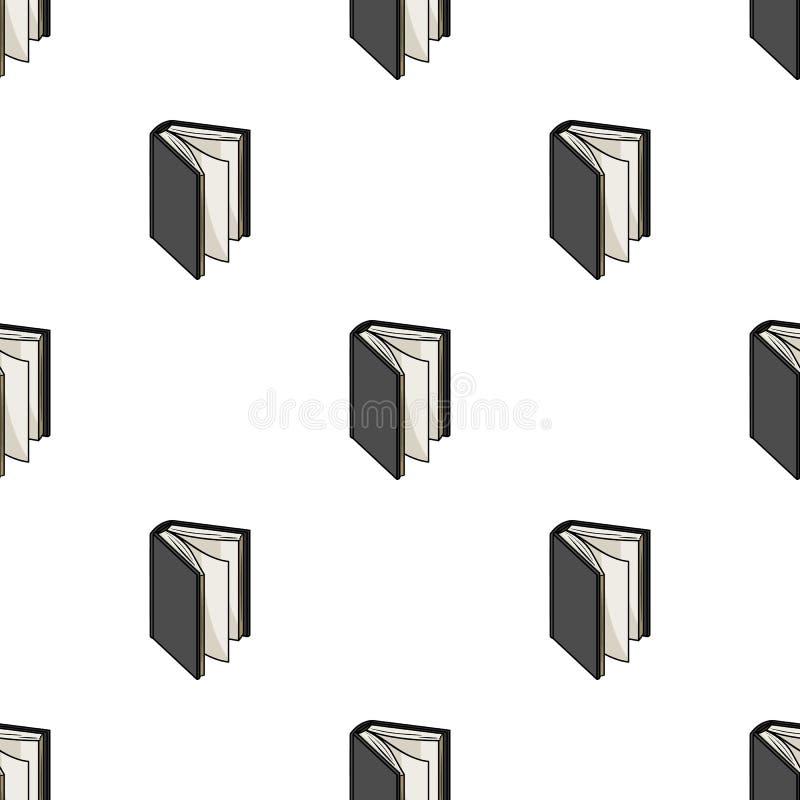 Μαύρο μόνιμο εικονίδιο βιβλίων στο ύφος κινούμενων σχεδίων στο άσπρο υπόβαθρο Διανυσματική απεικόνιση αποθεμάτων συμβόλων βιβλίων ελεύθερη απεικόνιση δικαιώματος