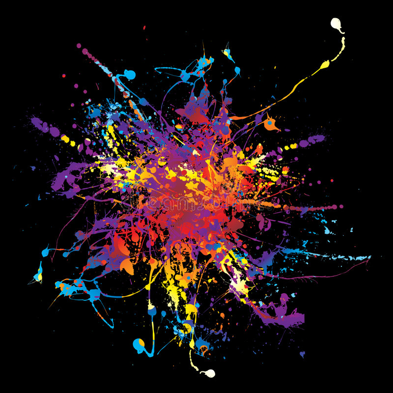 μαύρο ουράνιο τόξο χρωμάτων  διανυσματική απεικόνιση