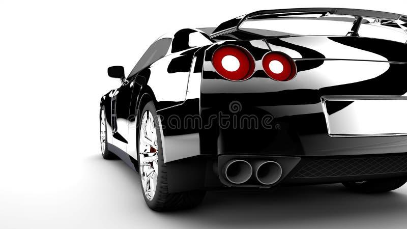 Μαύρο πίσω αυτοκίνητο διανυσματική απεικόνιση