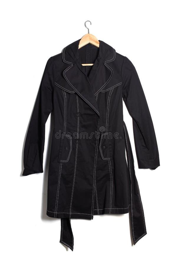 Μαύρο παλτό στοκ εικόνα