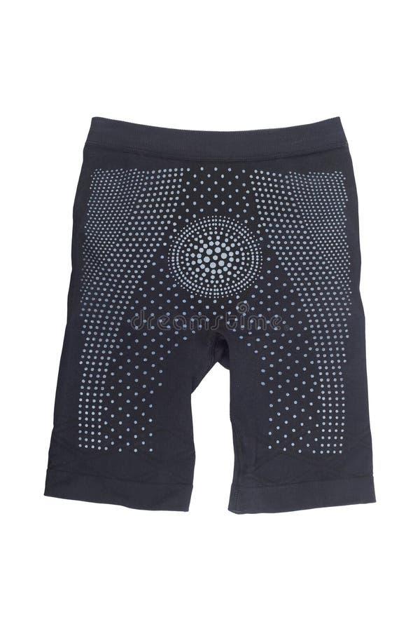 μαύρο παντελόνι αδυνατίσματος για τη μείωση cellulite που απομονώνεται στο λευκό στοκ φωτογραφία με δικαίωμα ελεύθερης χρήσης