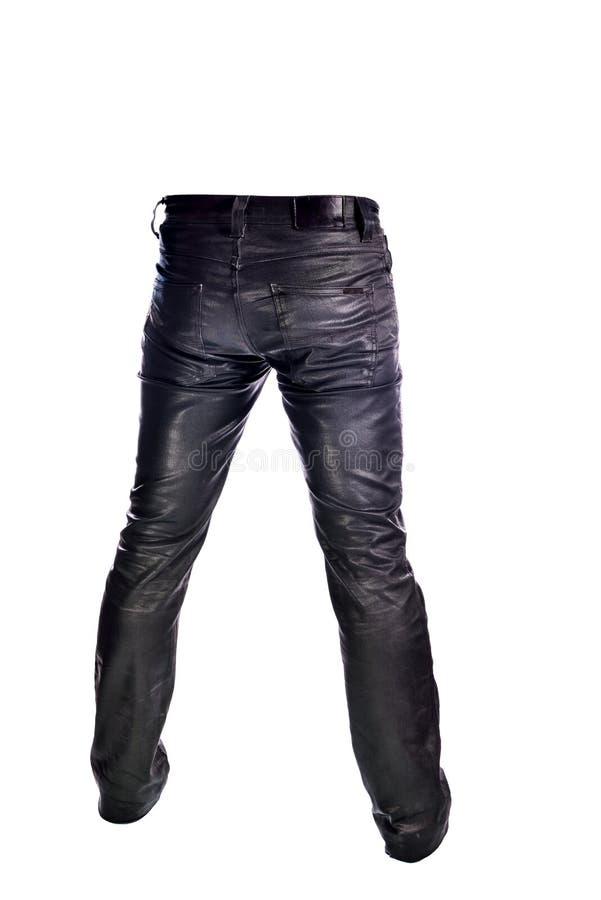 Μαύρο παντελόνι τζιν στο άσπρο υπόβαθρο στοκ εικόνες