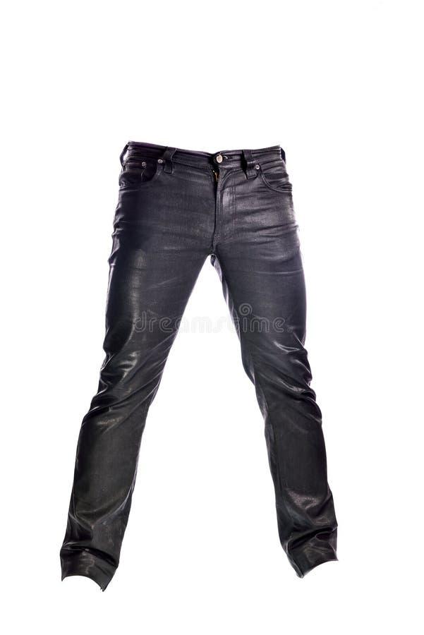 Μαύρο παντελόνι τζιν στο άσπρο υπόβαθρο στοκ φωτογραφία με δικαίωμα ελεύθερης χρήσης