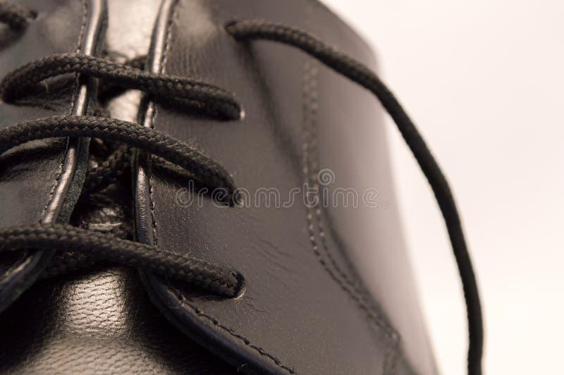Μαύρο παπούτσι δέρματος στοκ φωτογραφία