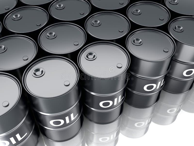 Μαύρο πετρέλαιο βαρελιών διανυσματική απεικόνιση