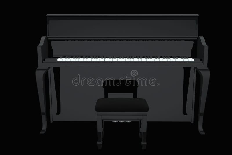 Μαύρο πιάνο συναυλίας διανυσματική απεικόνιση