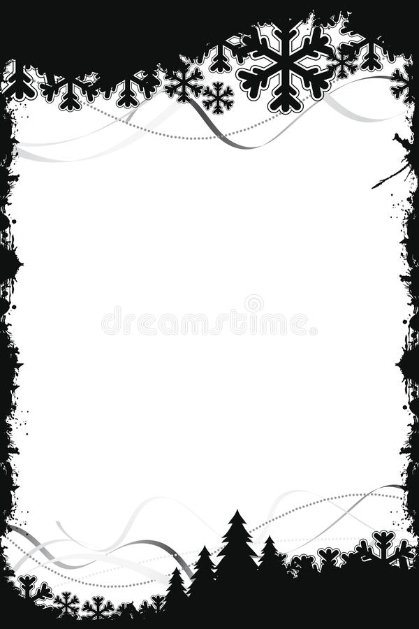 μαύρο πλαίσιο Χριστουγέν&n διανυσματική απεικόνιση