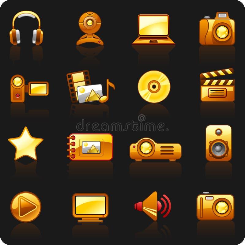 μαύρο πορτοκαλί βίντεο φω απεικόνιση αποθεμάτων