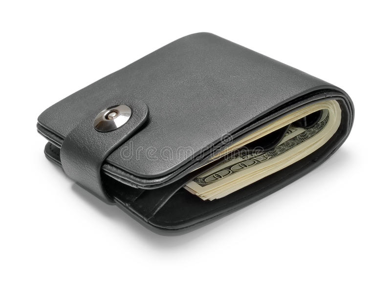 μαύρο πορτοφόλι δέρματος στοκ εικόνες με δικαίωμα ελεύθερης χρήσης