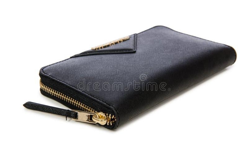 Download Μαύρο πορτοφόλι που απομονώνεται στο λευκό Στοκ Εικόνα - εικόνα από closeup, σακούλα: 62709721