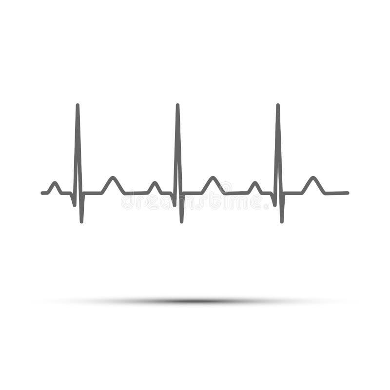 Μαύρο ποσοστό καρδιών γραμμών που απομονώνεται στο άσπρο υπόβαθρο Διανυσματικό καρδιο εικονίδιο απεικόνιση αποθεμάτων