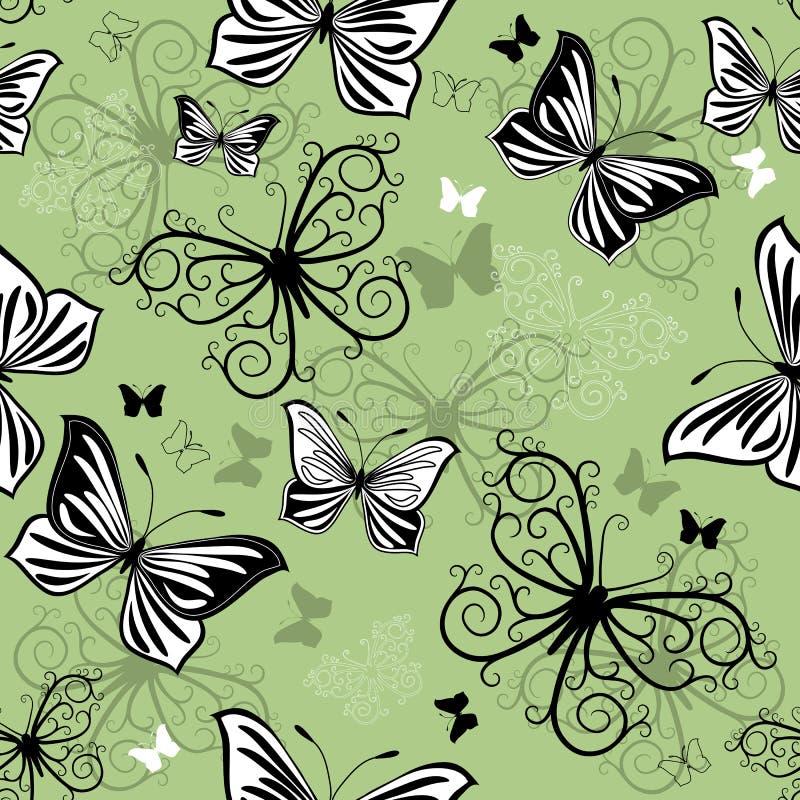μαύρο πράσινο άνευ ραφής λ&epsilo απεικόνιση αποθεμάτων