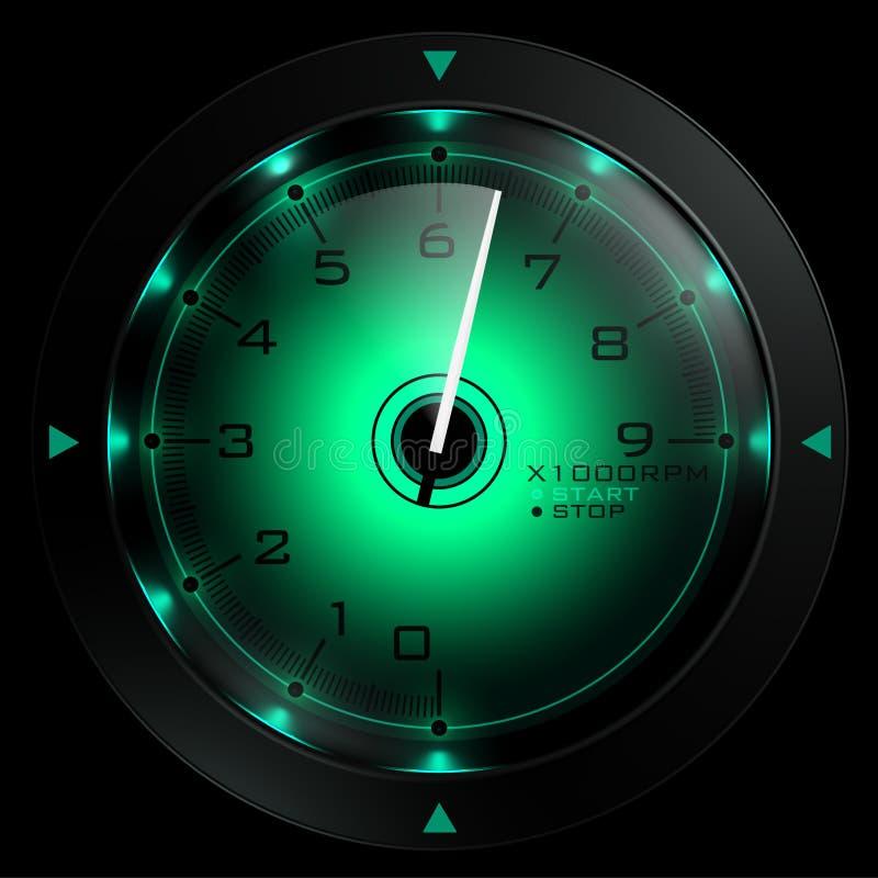 μαύρο πράσινο απομονωμένο &ta ελεύθερη απεικόνιση δικαιώματος