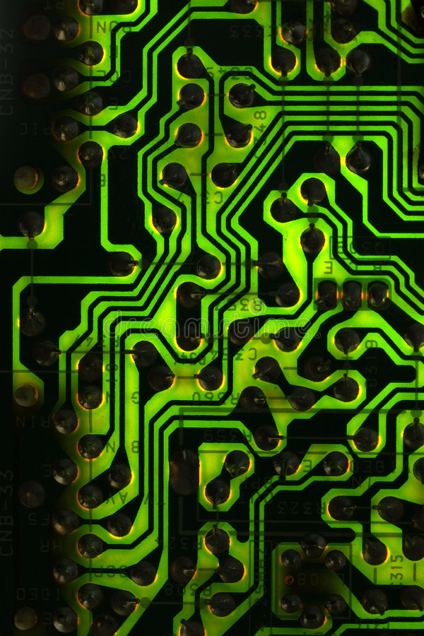 μαύρο πράσινο PCB στοκ εικόνες