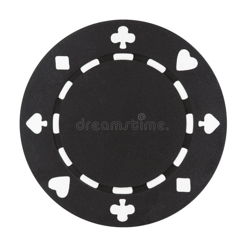 μαύρο πόκερ τσιπ στοκ φωτογραφία με δικαίωμα ελεύθερης χρήσης