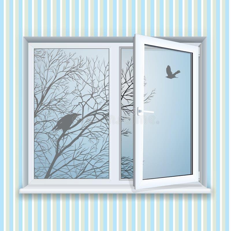 μαύρο πλαστικό διανυσματικό παράθυρο απεικόνισης πλαισίων ελεύθερη απεικόνιση δικαιώματος