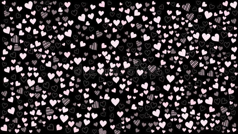 μαύρο ροζ καρδιών ανασκόπη&s απεικόνιση αποθεμάτων