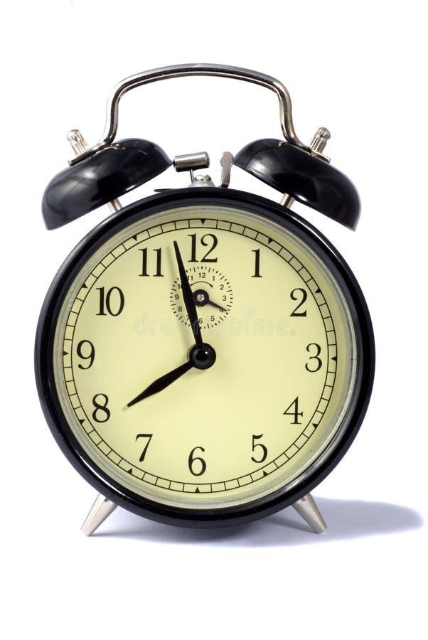 μαύρο ρολόι συναγερμών στοκ φωτογραφία