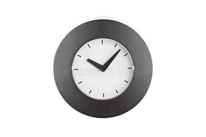 μαύρο ρολόι στοκ φωτογραφία