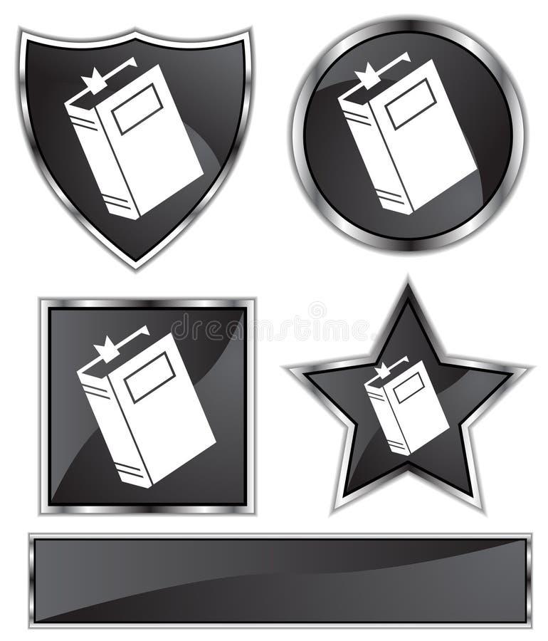 μαύρο σατέν βιβλίων διανυσματική απεικόνιση