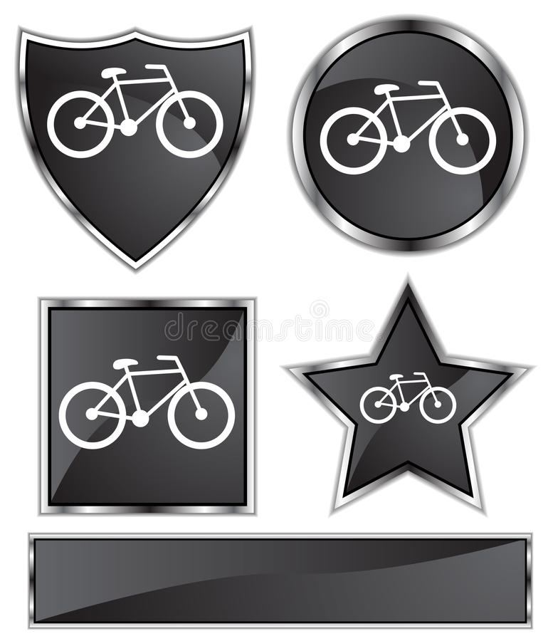 μαύρο σατέν ποδηλάτων απεικόνιση αποθεμάτων