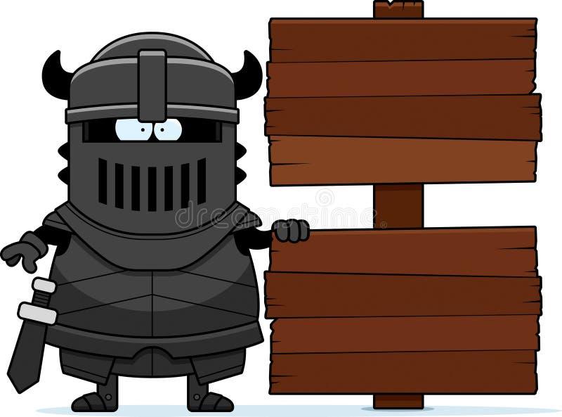 Μαύρο σημάδι ιπποτών κινούμενων σχεδίων ελεύθερη απεικόνιση δικαιώματος