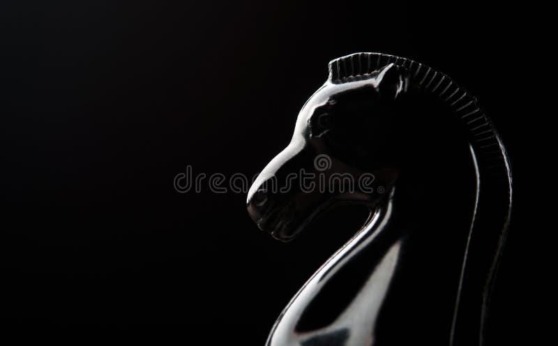 Μαύρο σκάκι ιπποτών στοκ φωτογραφία με δικαίωμα ελεύθερης χρήσης