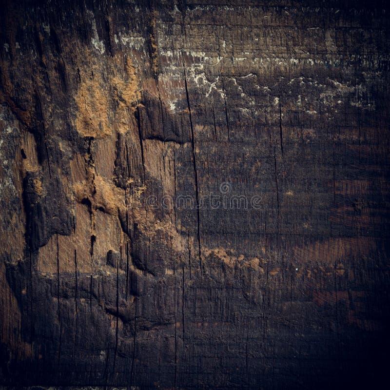 Μαύρο σκοτεινό ξύλινο υπόβαθρο, ξύλινη επιφάνεια σιταριού πινάκων τραχιά στοκ εικόνα
