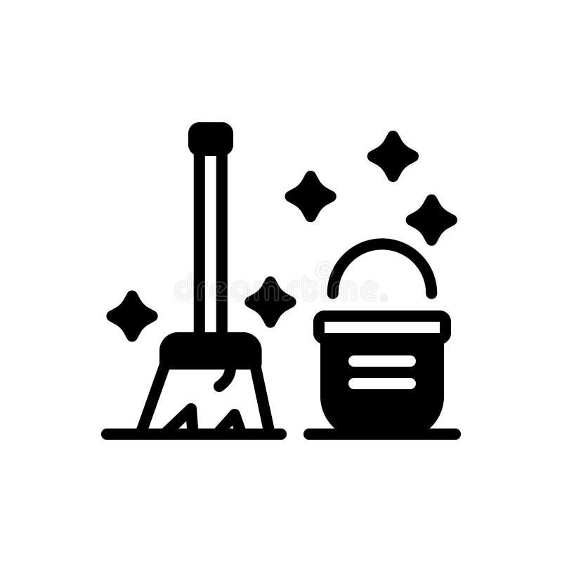 Μαύρο στερεό εικονίδιο για καθαρός, τακτοποιημένος και διακριτός διανυσματική απεικόνιση