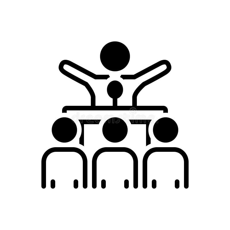 Μαύρο στερεό εικονίδιο για να κάνει εκστρατεία, την ψηφοφορία και το μέλος διανυσματική απεικόνιση