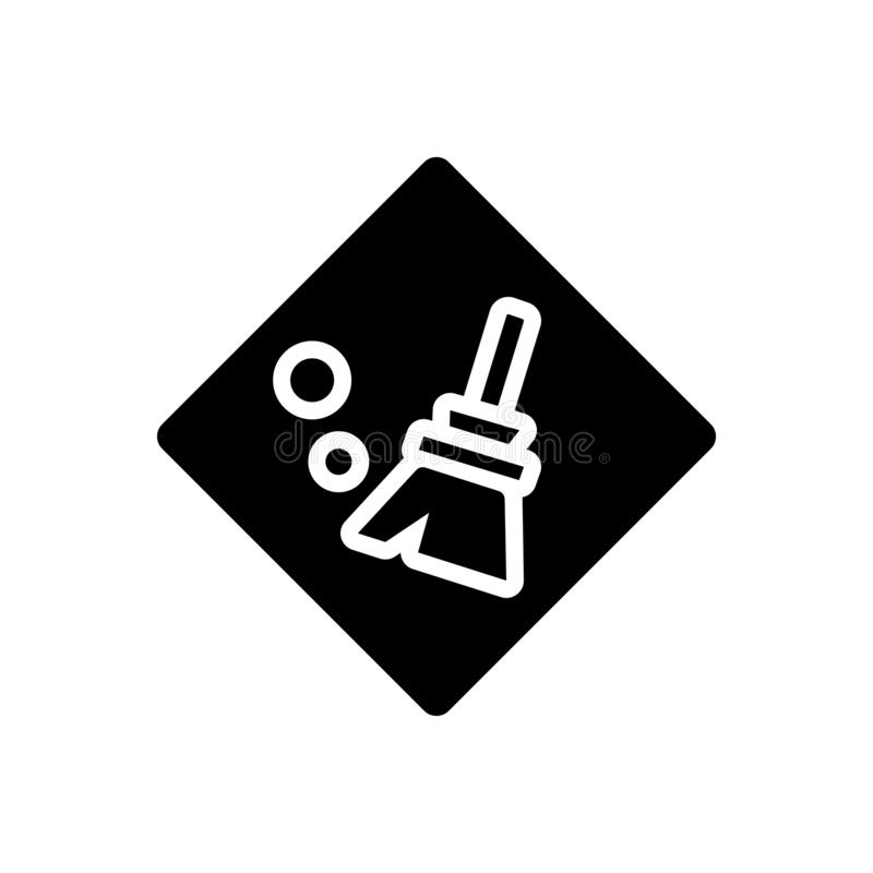 Μαύρο στερεό εικονίδιο για σαφής, διακριτός και τακτοποιημένος απεικόνιση αποθεμάτων
